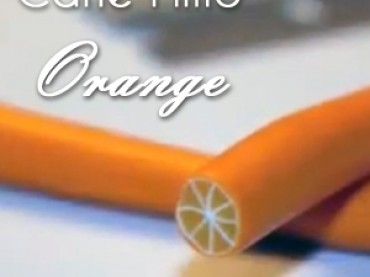 Faire une cane Fimo fruit : Oranges