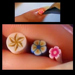 nail art fimo d corer vos ongles avec de la fimo. Black Bedroom Furniture Sets. Home Design Ideas