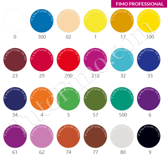 Couleur Fimo PROFESSIONAL