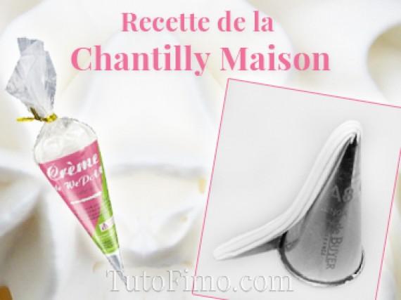 Faire de la fausse Chantilly Fimo Maison