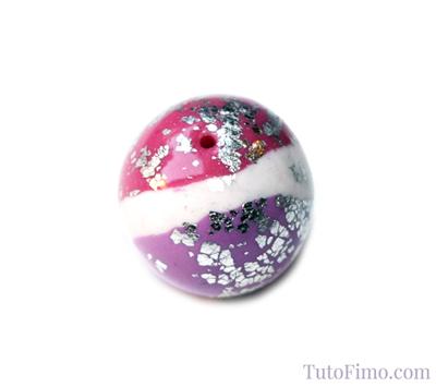 Perle Fimo tricolore
