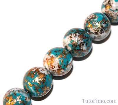Perles Fimo bicolores