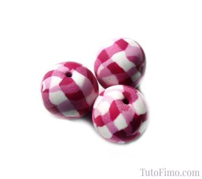 Perle vichy rose