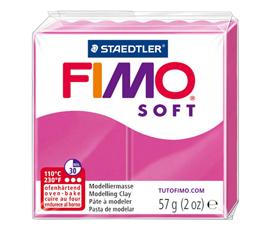 Pate Fimo Soft rose framboise