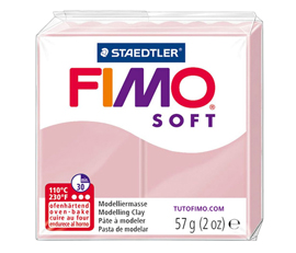 Pate Fimo Soft rose tendre