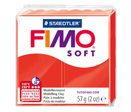 Pate Fimo Soft rouge indien