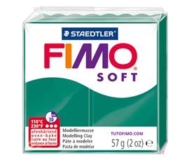 Pate Fimo Soft vert émeraude