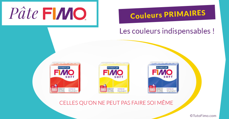 Fimo soft, Pate Fimo couleurs primaires